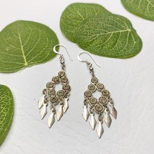 Jewelry - Sterling Silver Boho Dangle Earrings